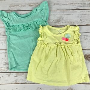 Carter's Baby Girl T-shirts   Set of two